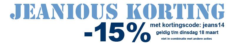 grote maten jeans 15% korting