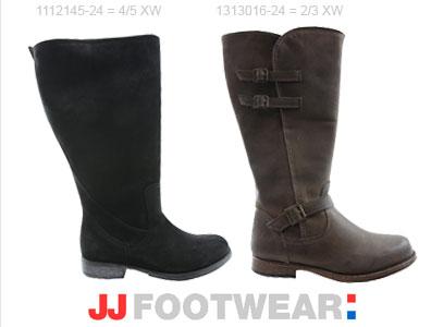 JJ footwear laarzen brede schacht nieuwe collectie