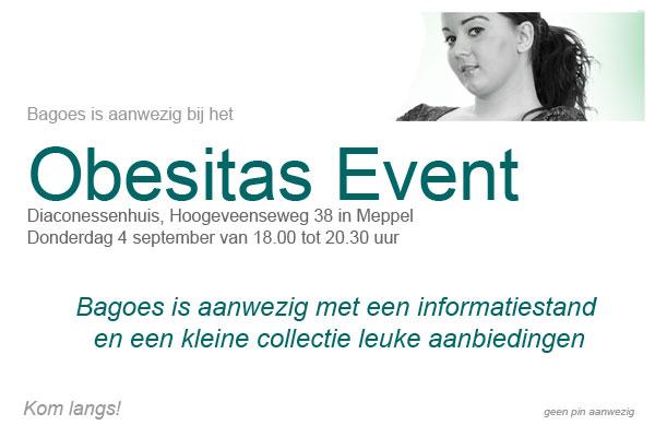 Bagoes op obesitas event in Meppel