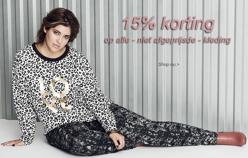 Alle kleding 15% korting