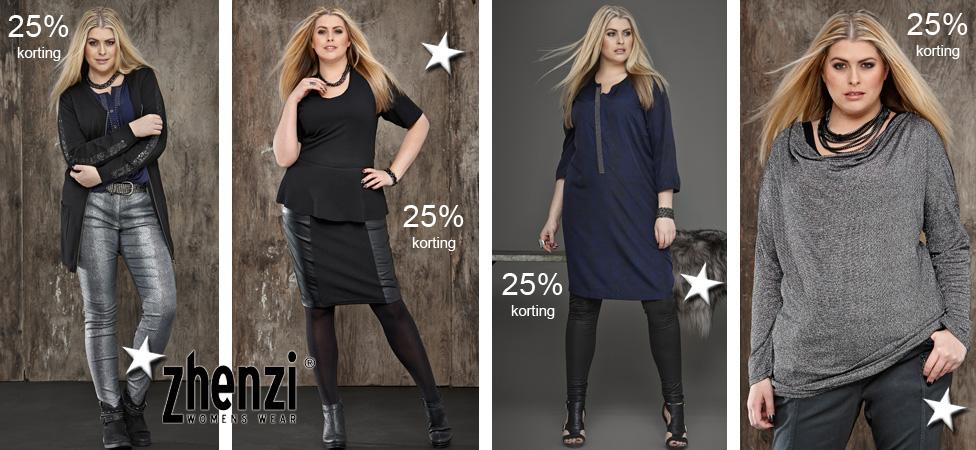 Zhenzi 25% korting ook op de feestkleding van Zhenzi
