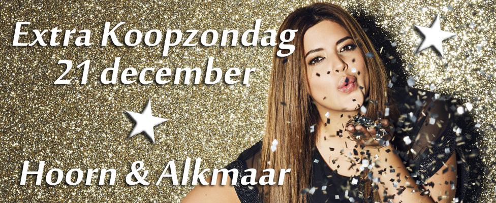 Extra koopzondag Hoorn en Alkmaar