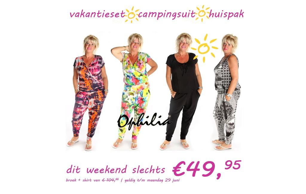 Goedkope jumpsuit set van Ophilia nu € 49,95