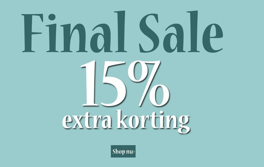15% extra korting op de sale