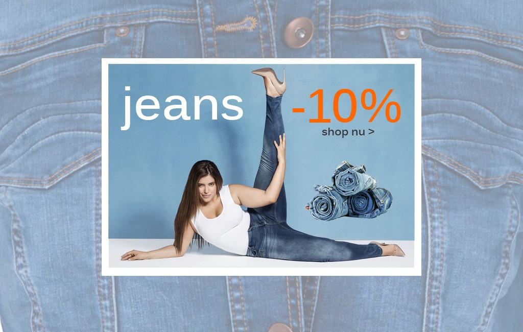 Grote maten jeans met korting