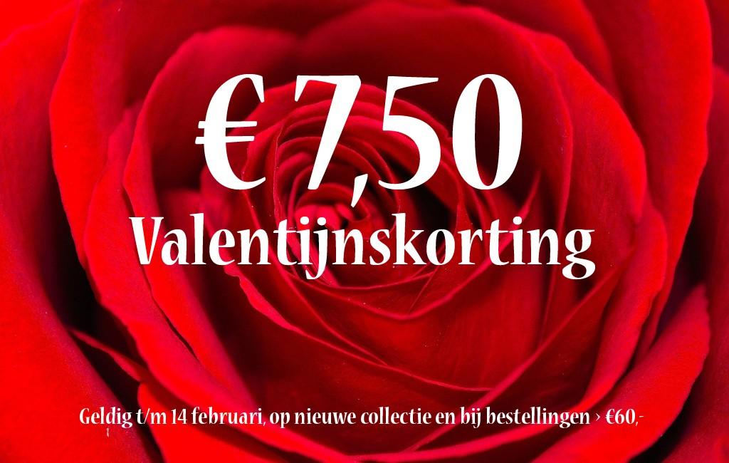 €7,50 korting op Valentijnsdag