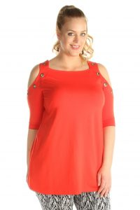 grote maten off-shoulder top