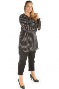 grote maten blouse strepen