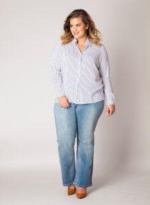 grote maten strepen blouse