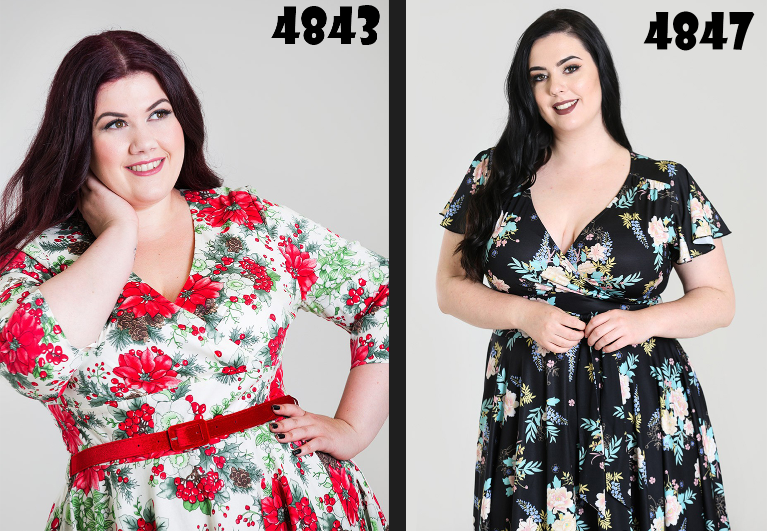 Grote maten plus size vintage jurk Hell Bunny