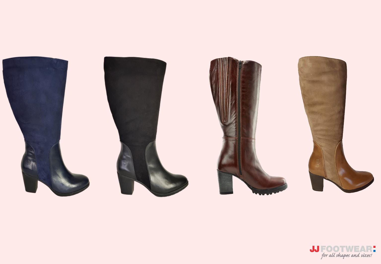Laarzen met een brede schacht JJ Footwear