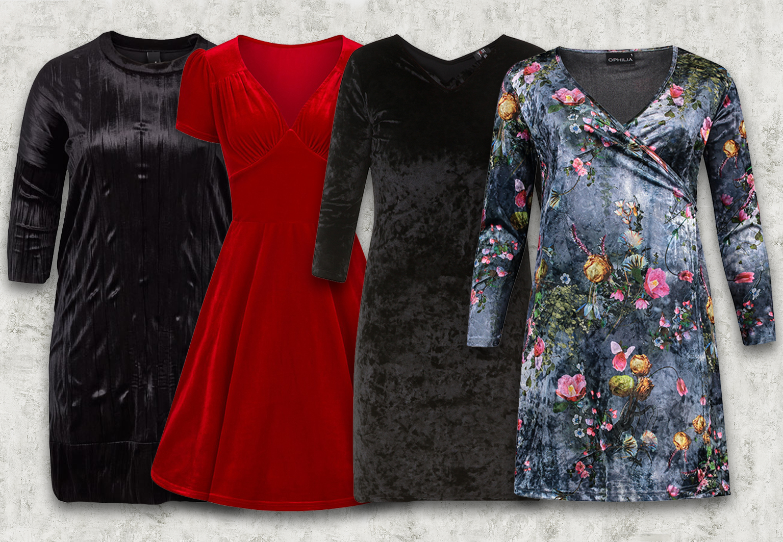Velours kleding jurken webshop