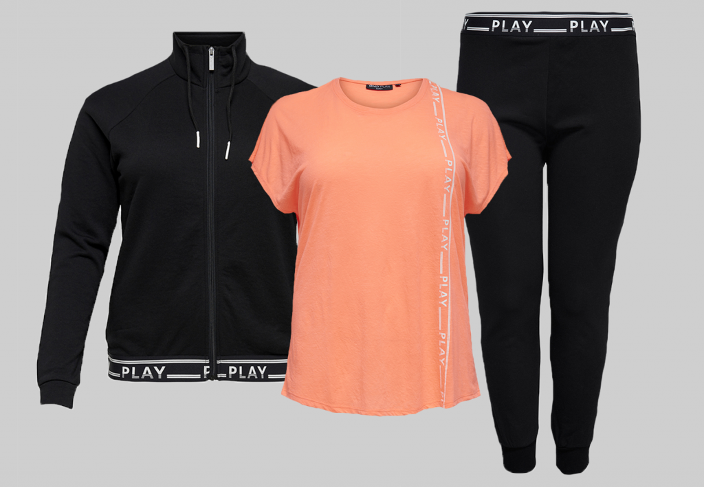 outfit inspiratie grote maten sportkleding Only Play Curvy